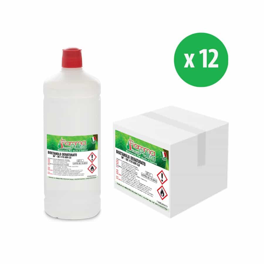 bioetanolo in bottiglia o flacone
