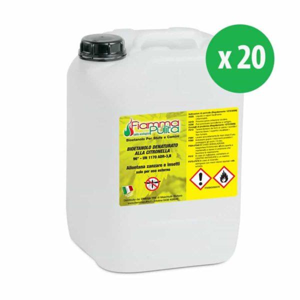 Taniche da 10 litri di bioetanolo alla citronella