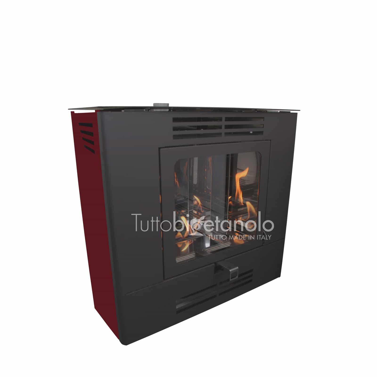 Stufa a bioetanolo Easy Corner ventilata made in Italy - Tuttobioetanolo